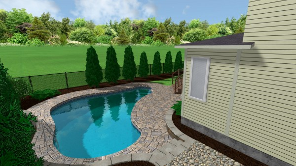Swimming Pools And Spas Interlock Landscape Pool